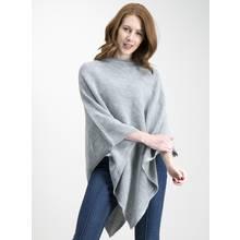 Grey Sparkle Knit Poncho - One Size