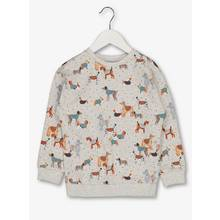 Light Grey Dog Print Sweatshirt