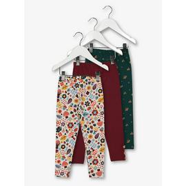 Multicoloured Woodland Floral Leggings 3 Pack