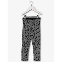 Grey & Black Leopard Print Leggings