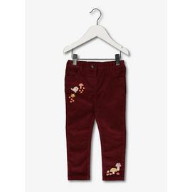 Berry Needlecord Trousers