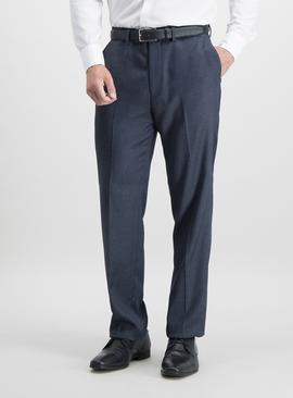 Blue Puppytooth Check Tailored Fit Suit Trousers