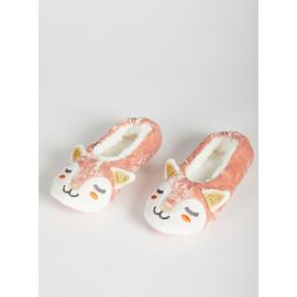Pink Fawn Ballerina Slippers