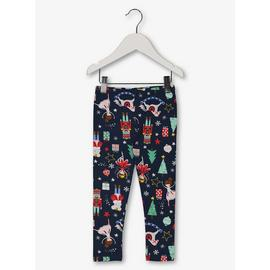 Christmas Navy Fairy Print Leggings