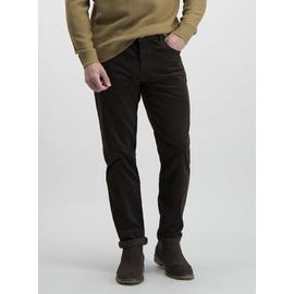 Brown Slim Fit 5 Pocket Corduroy Trousers With Stretch