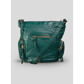 Online Exclusive Green Washed Cross-Body Bag - One Size