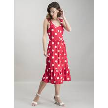 Red & White Spot Print Sundress