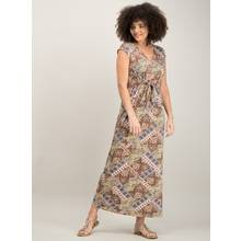 Multicoloured Tile Print Maxi Dress