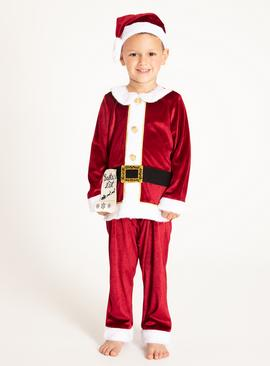 Christmas Red Santa Costume Set - 9-10 years