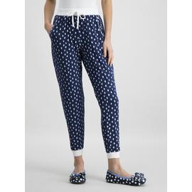 Navy Spotted Cuffed Pyjama Bottoms