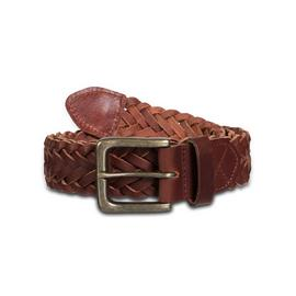 Brown Plaited Leather Belt
