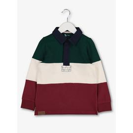 Multicoloured Horizontal Colour Block Rugby Shirt