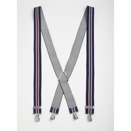 Navy Stripe Braces - One Size