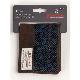 Harris Tweed Navy Wallet - One Size