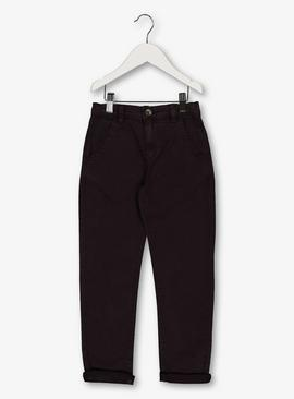 Aubergine Chinos With Stretch