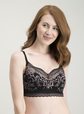 Black & Pink Lace Bralettes 2 Pack