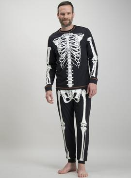 Halloween Black Skeleton Pyjamas - XXXL