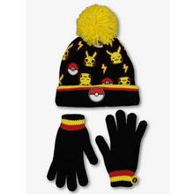 Pokemon Black & Yellow Knitted Hat & Gloves