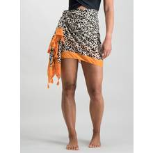 Multicoloured Animal Print Sarong - One Size