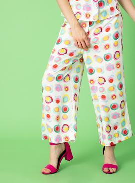 Graduate Fashion Week Multicoloured Abstract Circle Trouser