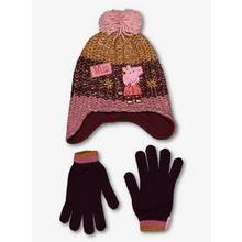 Peppa Pig Multicoloured Hat & Gloves Set