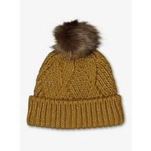 Ochre Twist Knitted Beanie Hat