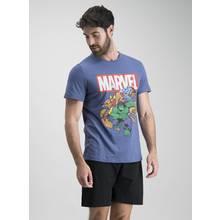 Marvel Superhero Blue & Black Shortie Pyjamas