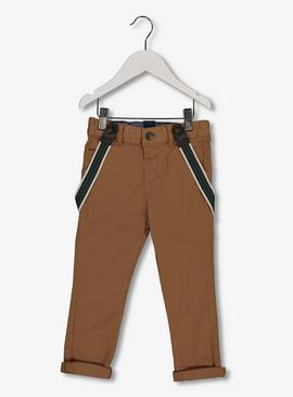 Tan Chinos With Braces