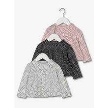 Grey & Pink Star Print Tops 3 Pack