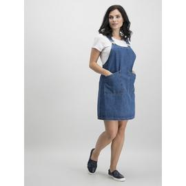 PETITE Blue Denim Pinafore Dress
