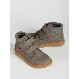 ToeZone Grey Chunky Sole Boots