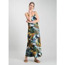 Multicoloured Tropical Animal Print Maxi Dress