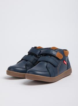 ToeZone Navy Twin Strap Boots