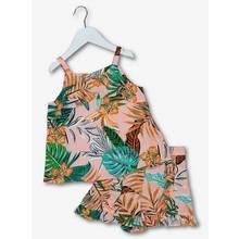 Multicoloured Tropical Floral Top & Short Set