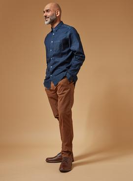 PREMIUM Indigo Denim Regular Fit Stretch Shirt
