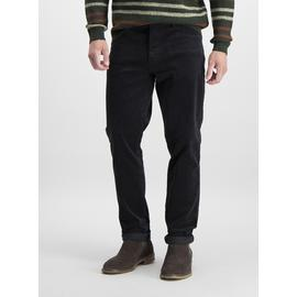 Charcoal Grey Slim Fit 5 Pocket Corduroy Trousers