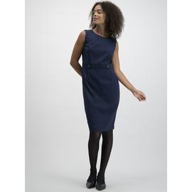 Black Button Detail Shift Dress