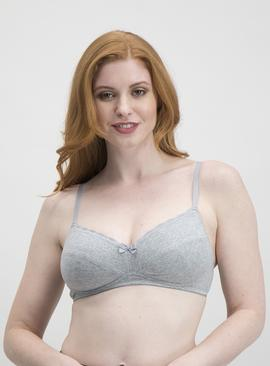Grey Super Soft Padded Comfort Bra