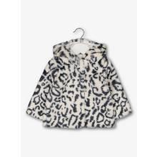 Monochrome Leopard Faux Fur Jacket