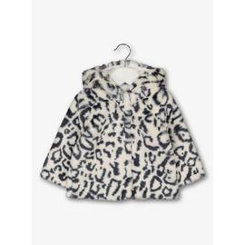 Monochrome Leopard Faux Fur Jacket