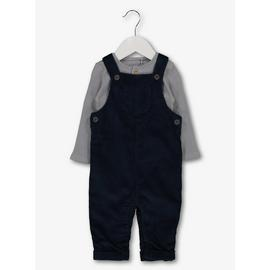 Blue Cord Dungaree & Bodysuit Set