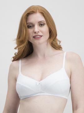 White Super Soft Padded Comfort Bra - 32A