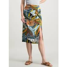 Multicoloured Tropical Animal Print Skirt