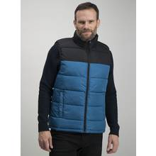 Blue Colour Block Eco Thermolite Shower Resistant Gilet