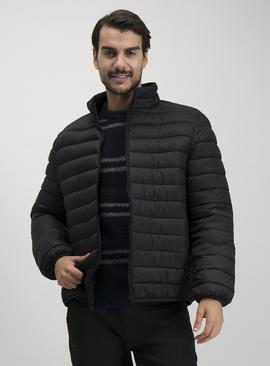 Black Eco Thermolite Padded Shower Resistant Coat