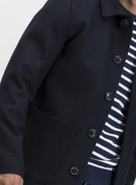 Navy Wool-Rich Chore Jacket
