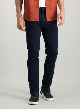 Blue Black Dyed Skinny Denim Jeans With Stretch