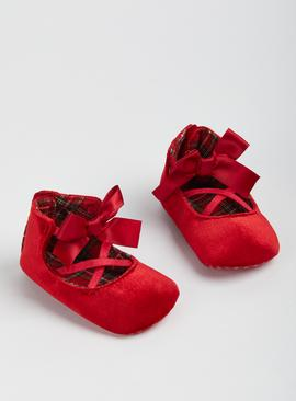 Red Velvet Ballet Shoes