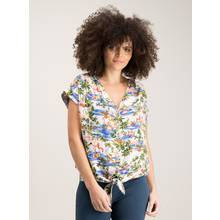 Mini Me Multicoloured Flamingo Print Tie Front Top