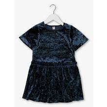 Navy Velour Party Dress